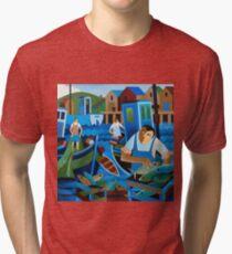 UNLOADING THE CATCH Tri-blend T-Shirt