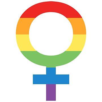 LGBT+ Women Empowerment Female Symbol Design by livstuff