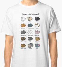 Camiseta clásica Los tipos de pan de gato