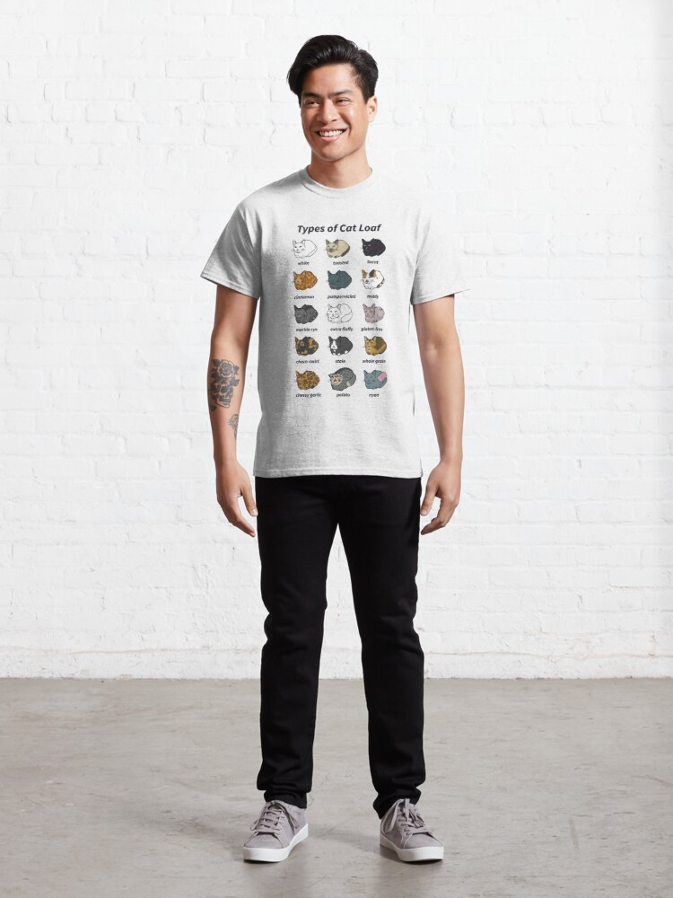 Alternate view of The Types of Cat Loaf Classic T-Shirt