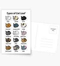 Die Arten von Katzenlaib Postkarten
