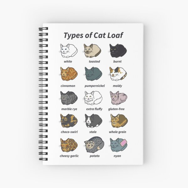 The Types of Cat Loaf Spiral Notebook