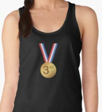 3st Place Gold Medal T-Shirt Award Ceremony Gift Tees Women's Tank Top