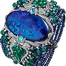 HIGH JEWELRY BRACELET ... Platinum, opal, sapphires, emeralds, Paraiba tourmalines by znamenski