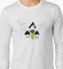 Crow Geo Guts - Black & Gold Long Sleeve T-Shirt