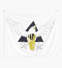 Crow Geo Guts - Black & Gold Wall Tapestry