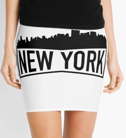 New York Cityscape Mini Skirt