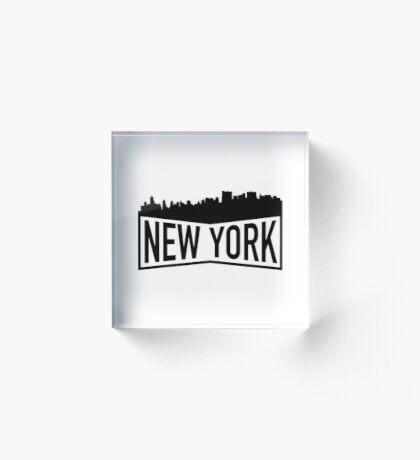 New York Cityscape Acrylic Block