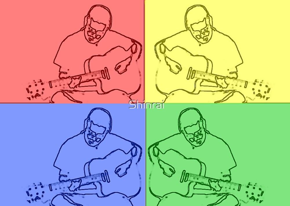 The Drummer plays Guitar :: Warhol by Shinrai