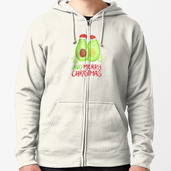 Avocado - Avo Merry Christmas Zipped Hoodie