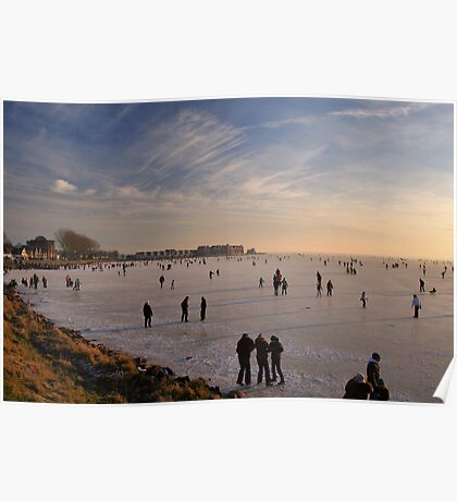 Ice Fun on The IJsselmeer Poster