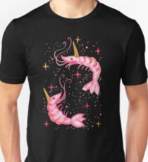 Uni-Prawn In Space - Black Unisex T-Shirt