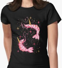 Uni-Prawn In Space - Black Women's Fitted T-Shirt