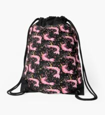 Uni-Prawn In Space - Black Drawstring Bag