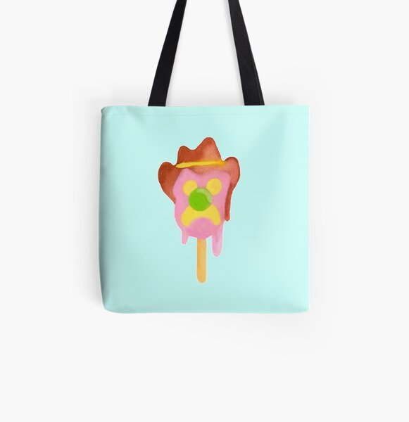 Bubble O Bill (Green Nose) - Blue All Over Print Tote Bag