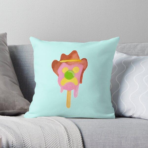 Bubble O Bill (Green Nose) - Blue Throw Pillow