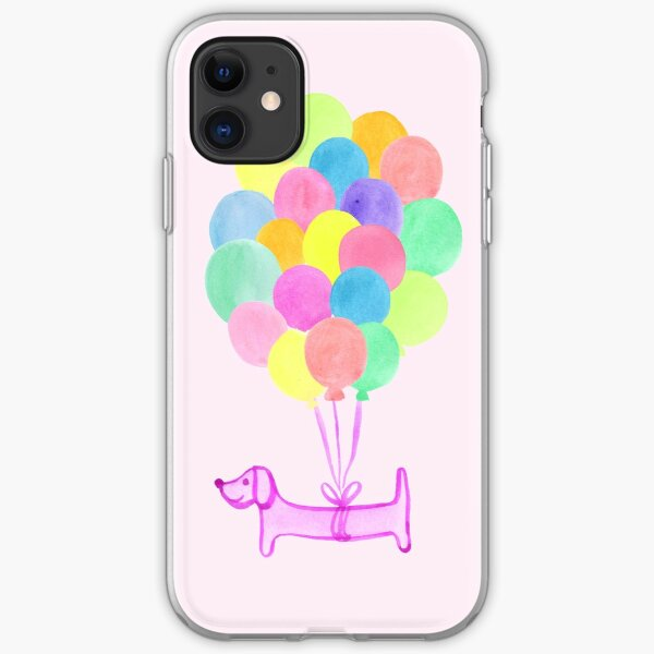 Pup Pup and Away! - Pink iPhone Soft Case