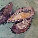 Seashells (Mussels) by Rina Miriam  Drescher