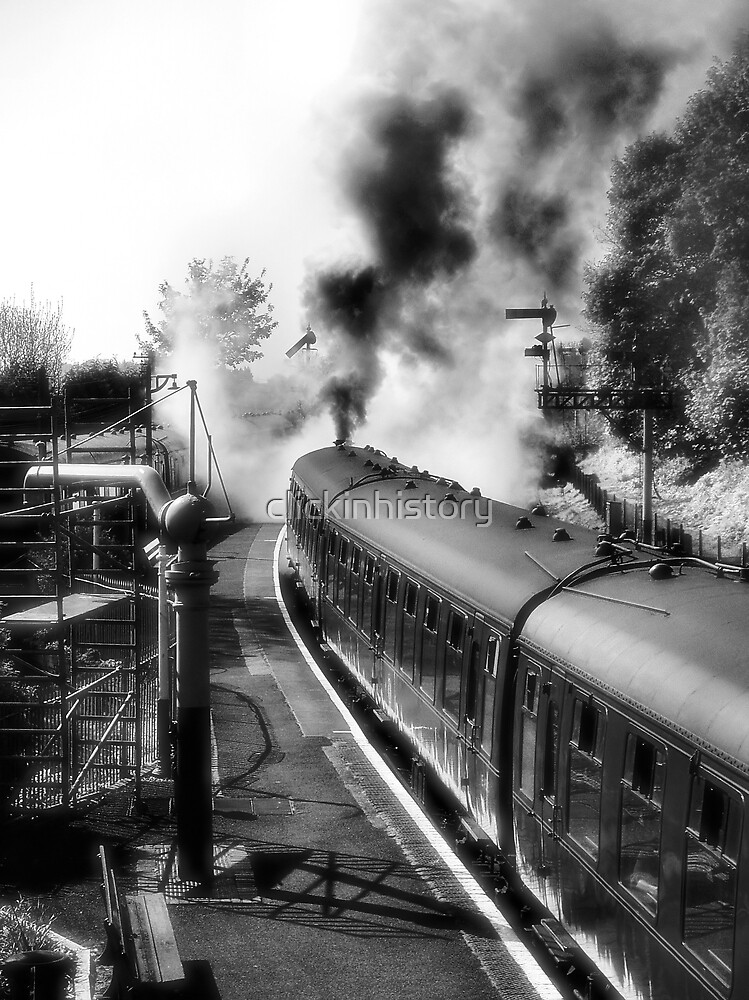 The train about to leave by clickinhistory