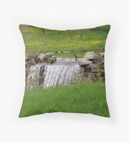 Dandelion Falls Throw Pillow