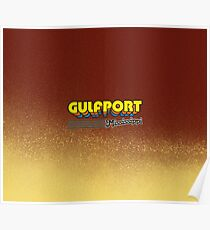 Gulfport, Mississippi   Retro Stripes Poster