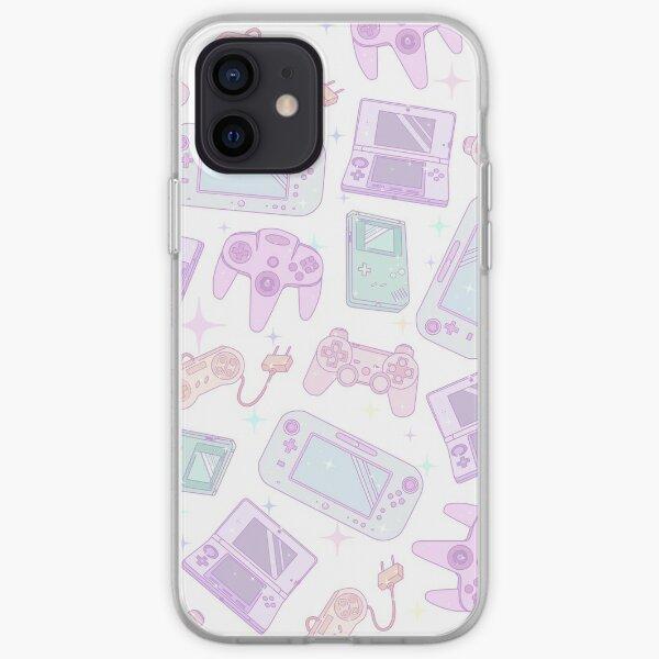 Lindo juego de consola en colores pastel Funda blanda para iPhone