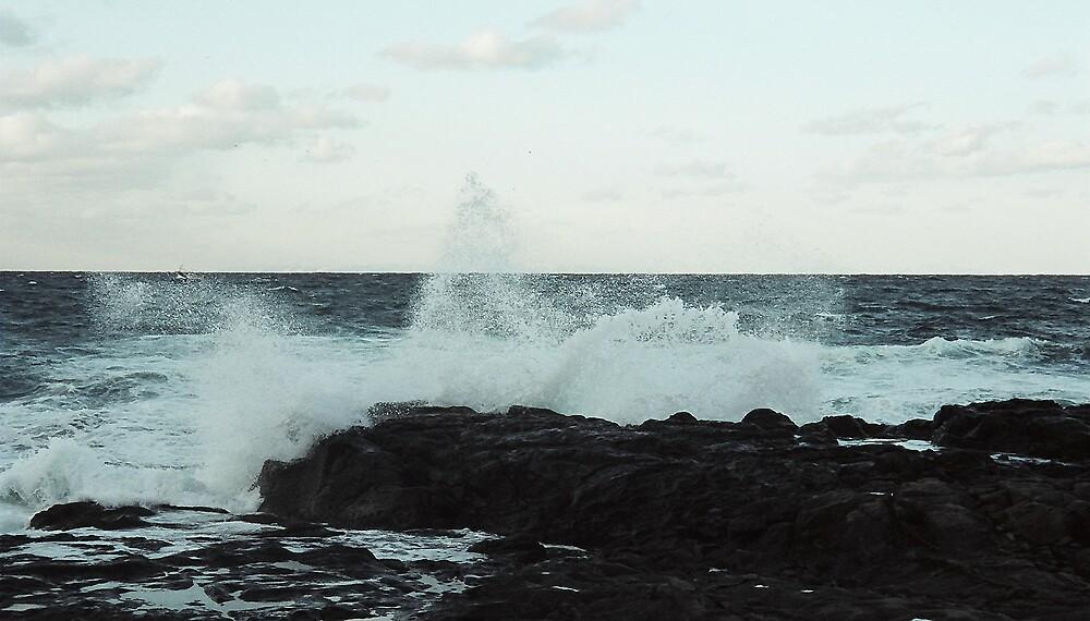 Waves crashing at Senjojiki by profusemoose