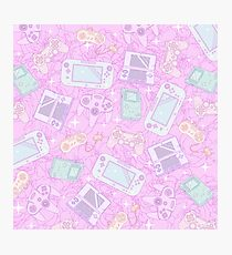 Cute Pastel Game Console Pattern Photographic Print