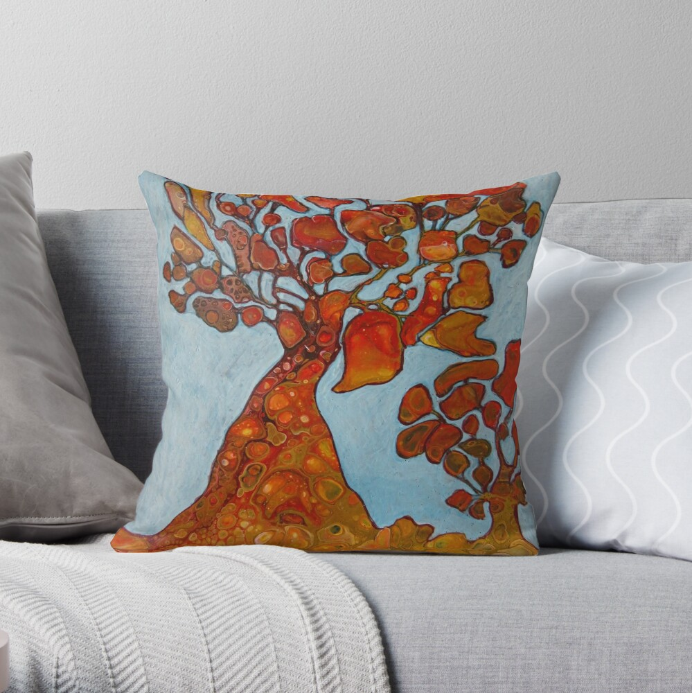 The Golden Wishing Tree Throw Pillow