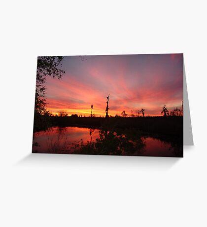 Sunset Lightshow Greeting Card