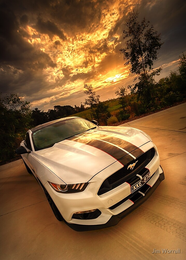 A Ford Mustang sunset by Jim Worrall