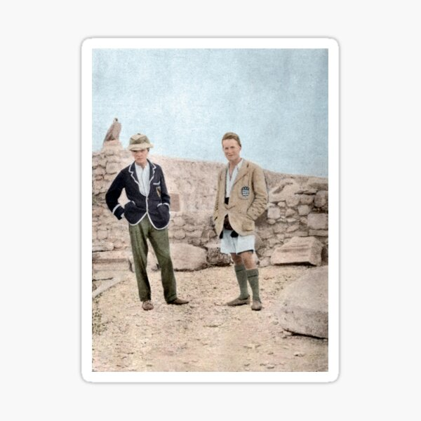 Lawrence of Arabia and Leonard Woolley at Carchemish, Syria, c. 1912 Sticker