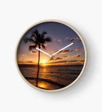 Maui Sunset Clock