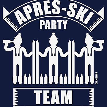 Après-Ski Party Team (Ski / Beer / White) by MrFaulbaum