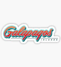 Galapagos Islands Typography Sticker