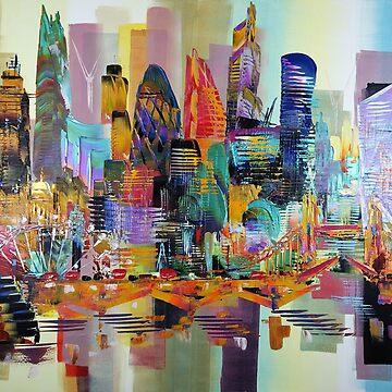 NEW 2018 BIG London City Skyline 387 by artsale