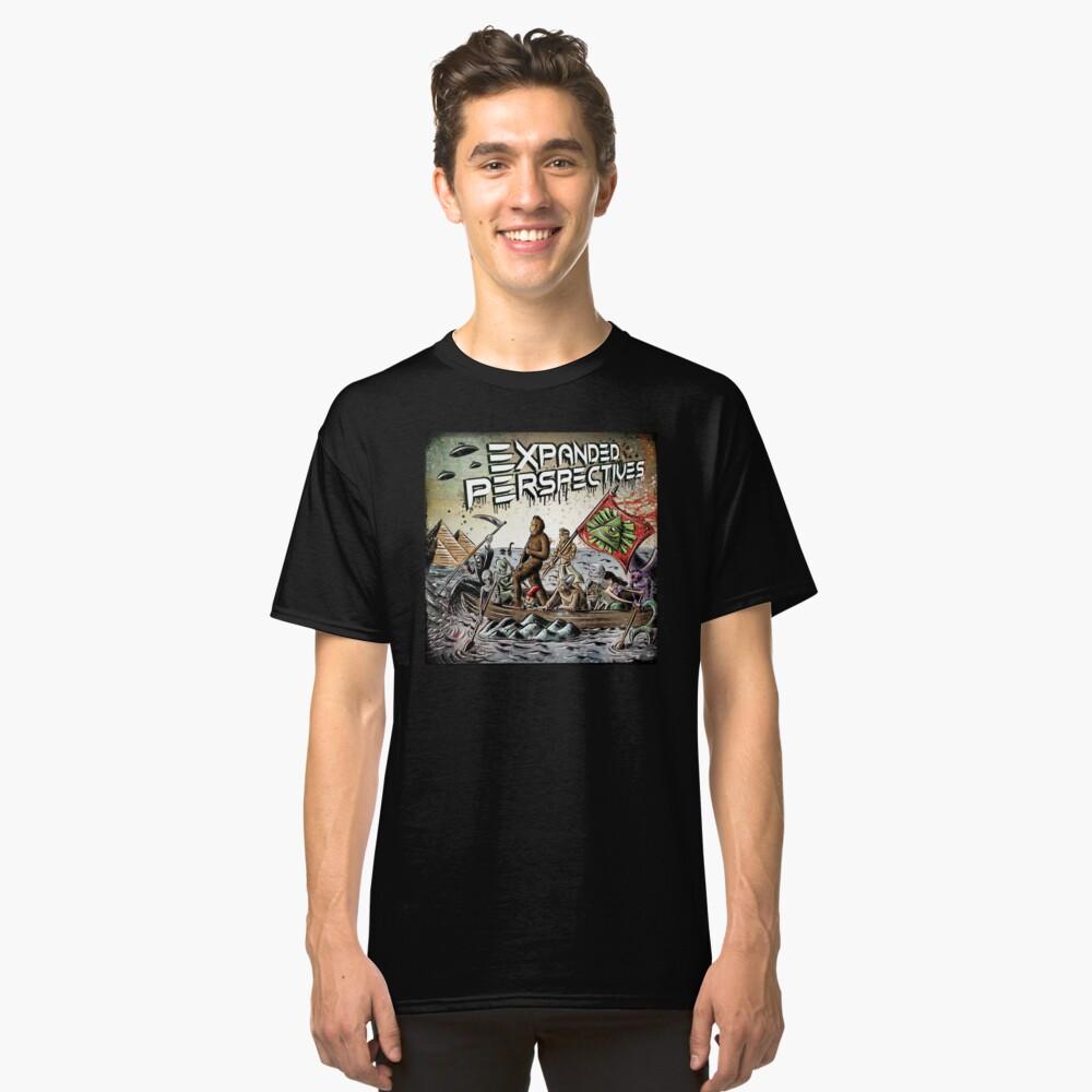 Erweiterte Perspektiven Podcast Aliens Bigfoot Verschwörungen großen Fuß Sasquatch Pyramiden alten Amerika Geschichte Cryptid Crypto Monster Illuminati Ägypten Classic T-Shirt