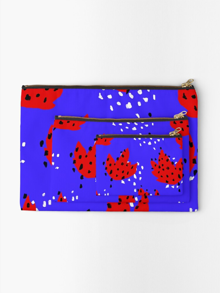 Alternate view of Spotted Zipper Pouch