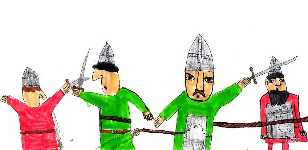 Medieval Fighting by Fotis
