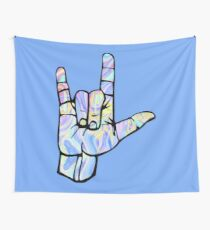 I love you rock on Wall Tapestry