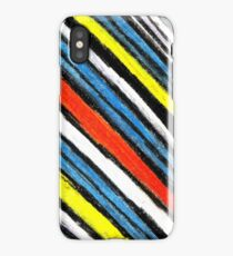 Colored Stripes (original drawing) iPhone Case