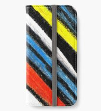 Colored Stripes (original drawing) iPhone Wallet/Case/Skin
