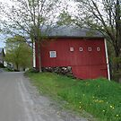 Red barn - West Calais, VT by May Lattanzio