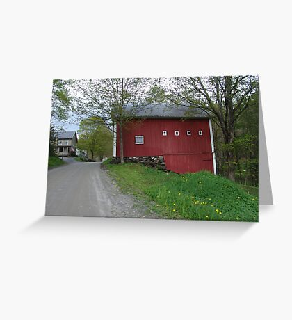 Red barn - West Calais, VT Greeting Card
