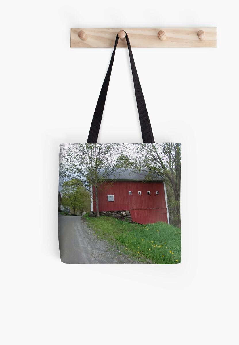 Red barn - West Calais, VT by May Lattanzio