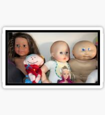 Five Lovely Dolls Sticker
