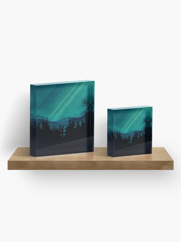 Alternative Ansicht von Magic in the Woods Acrylblock