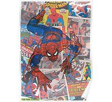 Vintage Comic Spiderman Poster