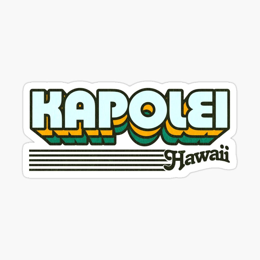 Kapolei, Hawaii | Retro Stripes Sticker
