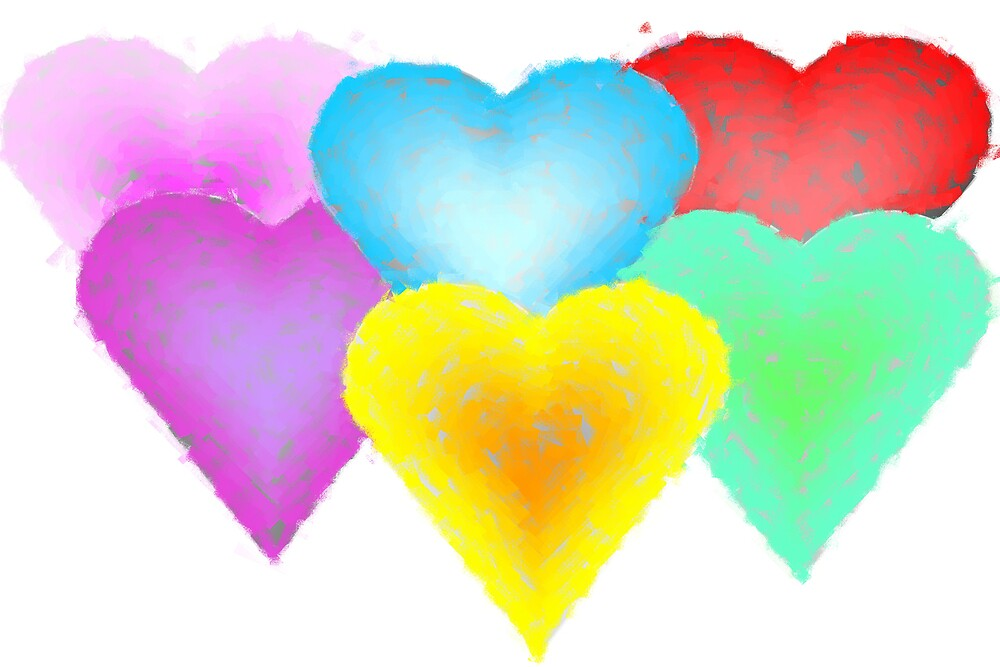 Pastel hearts by NicPW